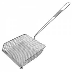 "Stainless Steel 8"" Rect Chip Shovel - Flat Handle"