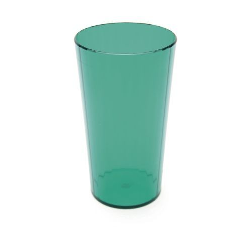 Polycarbonate Tumbler 10oz Fluted 28cl translucent green