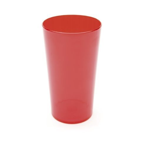 Polycarbonate Tumbler 10oz Fluted 28cl Translucent red
