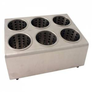 6 Hole Cutlery Holder With Cylinders