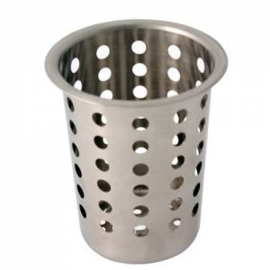 Stainless Steel Cutlery Cylinder With Holes