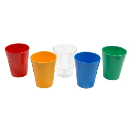 Polycarbonate Tumbler 5oz Fluted Side 15cl Clear