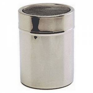 Stainless steel shaker with mesh top (plastic cap)