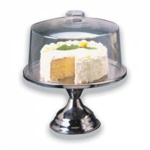 "Footed Cake Stand 12"" - Stainless Steel"