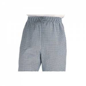 Chef Works Easy Fit Pants Blue Check - Size M
