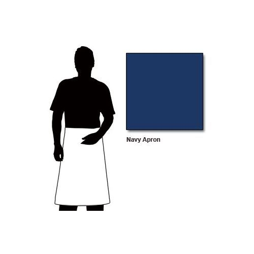 Chef Works Apron With Patch Pocket Navy Blue - 100x70cm