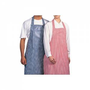 Bib Apron Blue / white Waterproof