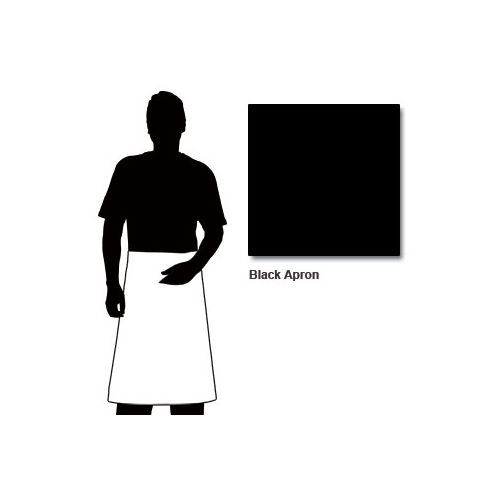 Chef Works 100x70 Black Apron With Patch Pocket