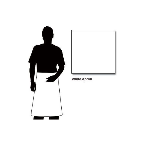 Chef Works Apron With Patch Pocket White - 100x70mm