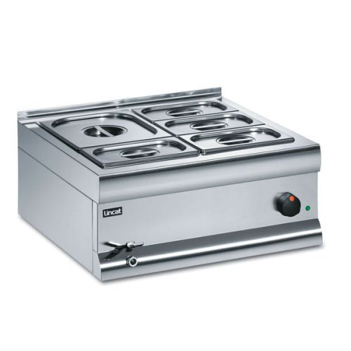 Lincat Silverlink 600 Wet Heat Bain Marie With 6 Containers BM6CW