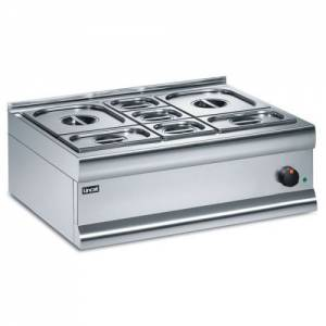 Lincat Silverlink 600 Dry Heat Bain Marie With 7 Containers BM7B