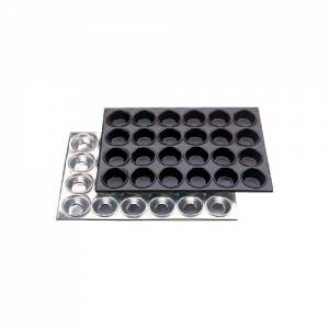 Aluminium Muffin Tray 24 Hole - Cup Size 80x35mm