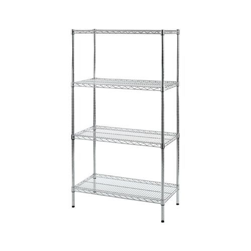 4 Tier Chrome Racking D305 x W1070 x H1625mm