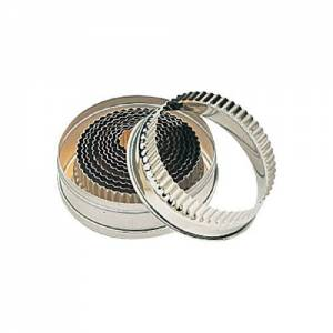 Round Fluted Cutters 11 Piece / 10cm