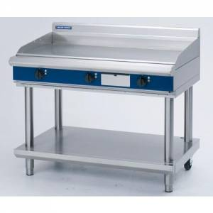 Blue Seal Heavy Duty Electric Griddle With Leg Stand 1200mm Wide X 812mm Deep X 915mm High Model EP