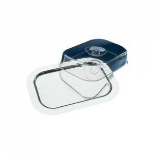 Rectangular Tray Stainless Steel With Cover - 44x31x9cm