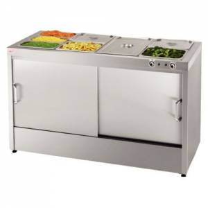 Caterlux Apollo 3 Hot Cupboard Bains Marie Top - 1090mm