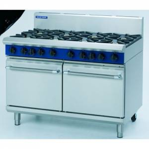 Blue Seal 8 Burner Gas Range With Two Gas Static Ovens Model G528D