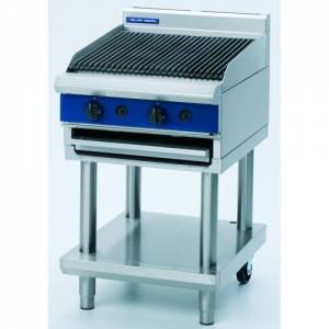 Blue Seal Heavy Duty Gas Chargrill With Leg Stand 600mm Wide X 812mm Deep X 915mm High Model G594-L