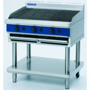 Blue Seal Heavy Duty Gas Chargrill With Leg Stand 900mm Wide X 812mm Deep X 915mm High Model G596-L
