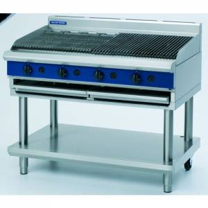 Blue Seal Heavy Duty Gas Chargrill With Leg Stand 1200mm Wide X 812mm Deep X 915mm High Model G598-