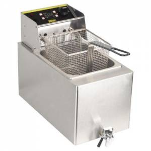 Buffalo Single Fryer - 1 X 8ltr 2.9kw With Timer