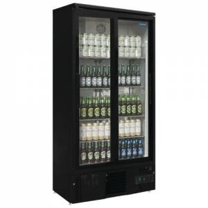 Polar Double Door Upright Back Bar Cooler Sliding