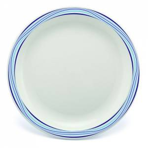 Polycarbonate 23cm Patterned Plate Blue Swirls