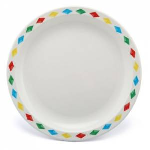 Polycarbonate 17cm Patterned Plate Diamonds