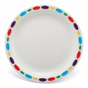 Polycarbonate 17cm Patterned Plate Pebbles