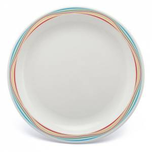 Polycarbonate 17cm Patterned Plate Multicoloured Swirls
