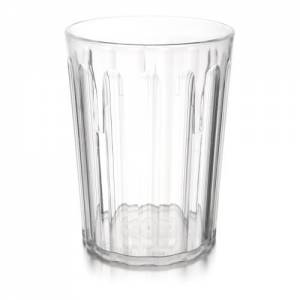 Polycarbonate Antibacterial 9oz Fluted Tumbler 25cl Clear