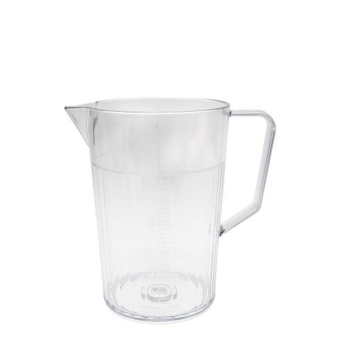 Polycarbonate Antibacterial 1.5 Pint Graduated Jug 750ml Clear (Lid Not Included)