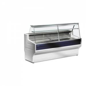 Valera Slimline Serve Over Display W1000 X D800 X H1220 Mm Curved Glass Model Hill CG100