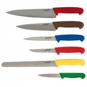6 Piece Colour Coded Knife Set & Knife Wallet