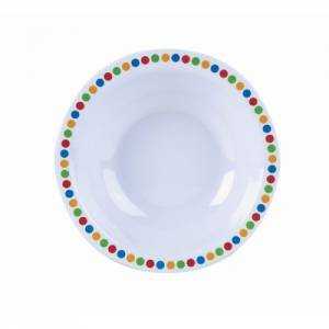 "Genware Melamine 6"" Bowl- Coloured Circles"