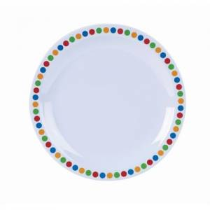"Genware Melamine 6.25"" Plate- Coloured Circles"