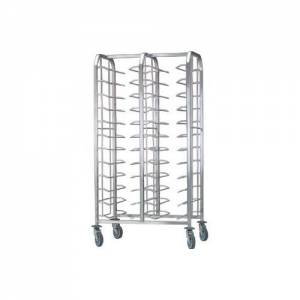 Cafeteria Clearing Trolley Side By Side 24 Trays, No Panel