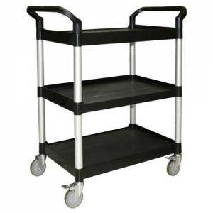 Clearing trolley black 851mm X 410mm X 940mm