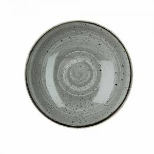 """Churchill Stonecast Grey Coupe Bowl 7.25"""""""