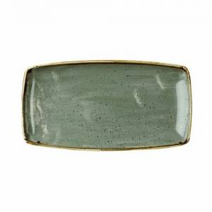 """Churchill Stonecast Grey X Squared Oblong Plate 13.75"""""""