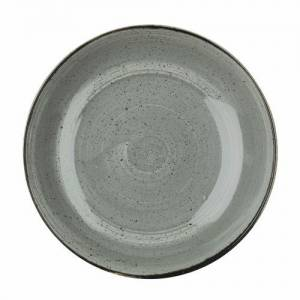Churchill Stonecast Grey Coupe Large Bowl 12""