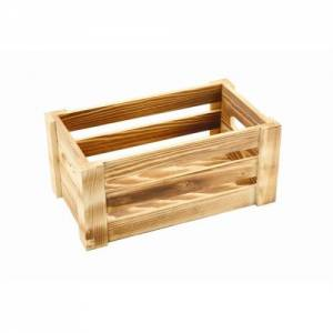 Wooden Crate Burnt Finish 27x16x12cm