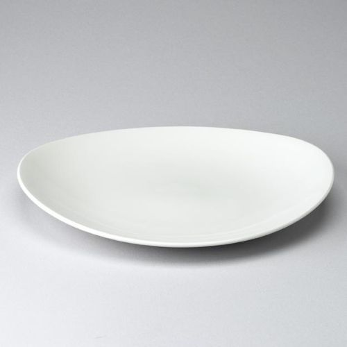 Churchill Orbit White Oval Coupe Plate 12""