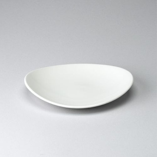 Churchill Orbit White Oval Coupe Plate 9""