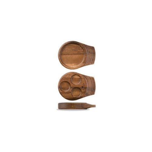 Churchill Igneous Wooden Round Tray - Single Handle